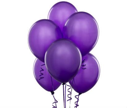 Однотонные воздушные шарики